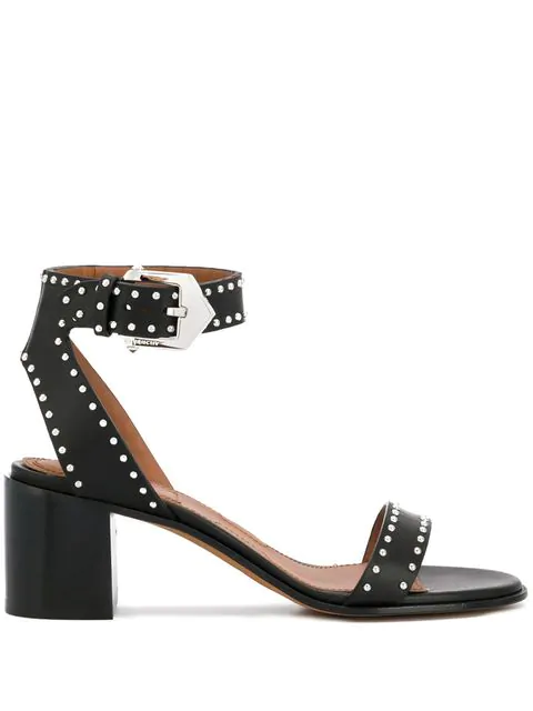 Givenchy Elegant Sandal With Buckle And Studs In Black