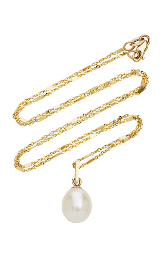Ashley Zhang 14k Gold Pearl Necklace In White