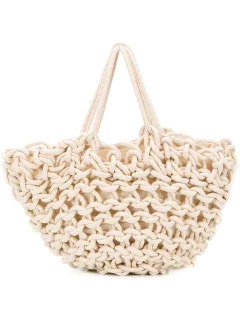 Alienina Braided Bag In Neutrals