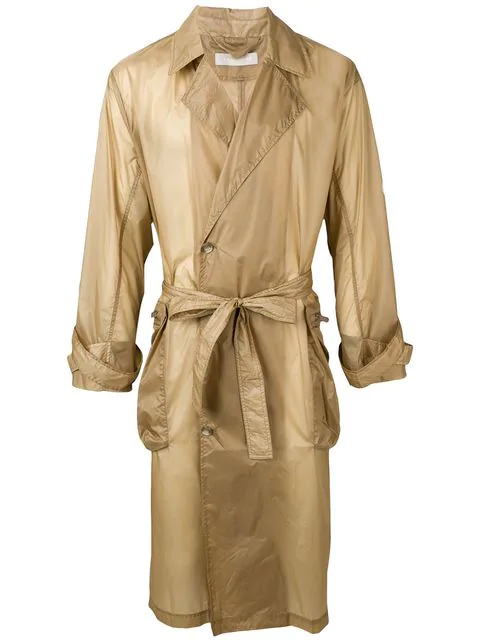 A.A. Spectrum Belted Trench Coat In Brown