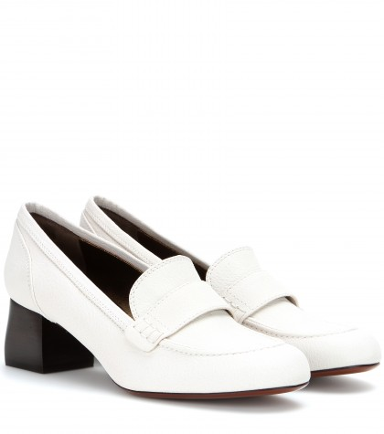 1ee120a8e20 Lanvin Square Heel Loafer (Women) In White