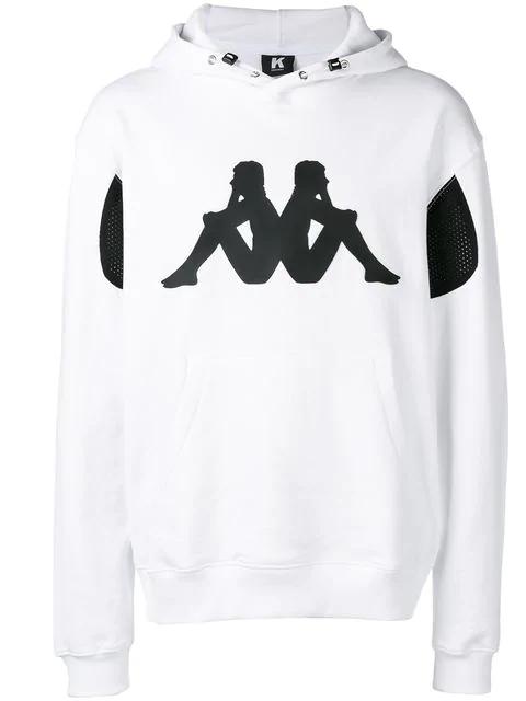 Kappa Printed Logo Hoodie In White
