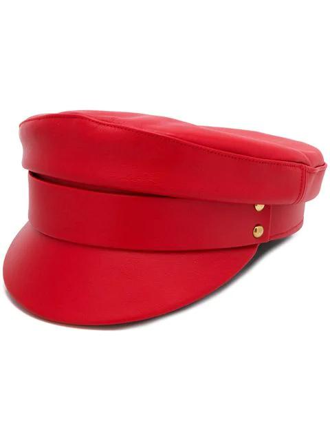 Manokhi 铆钉帽 - 红色 In Red