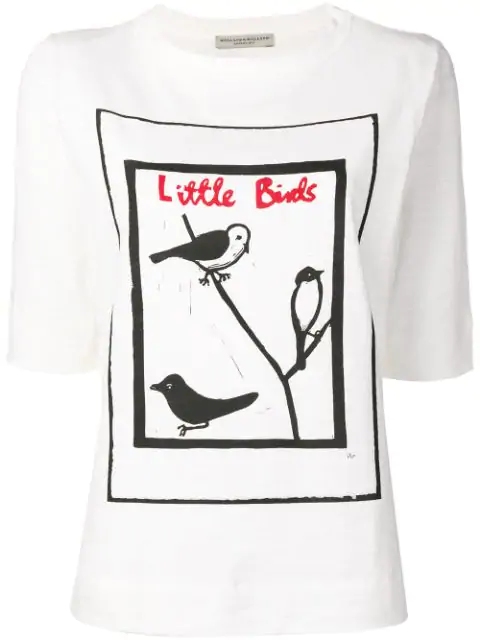 Holland & Holland Little Birds Print T-shirt In White