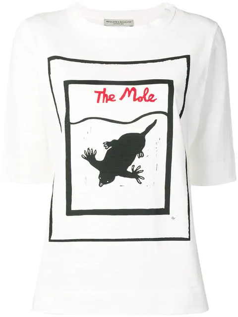 Holland & Holland The Mole Print T-shirt In White