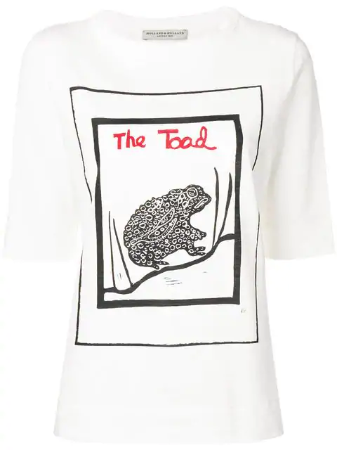 Holland & Holland The Toad Print T-shirt In White