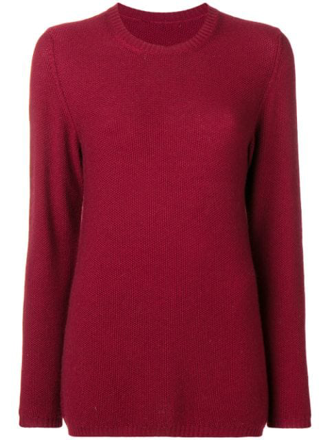Holland & Holland Crew Neck Jumper In Red