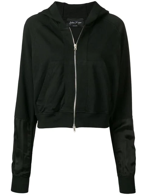 Andrea Ya'Aqov Classic Zipped Hoodie In Black