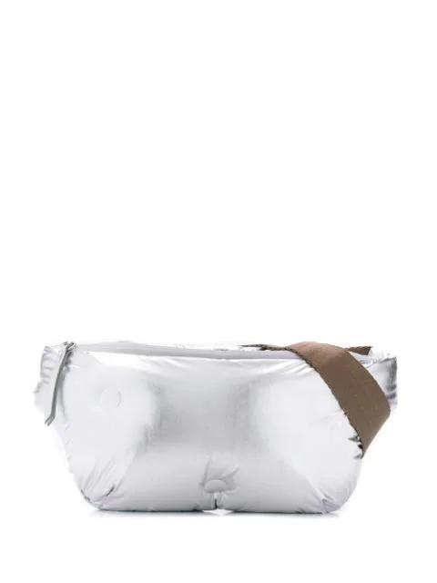 Maison Margiela Glam Slam Belt Bag In Silver