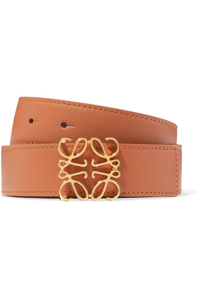 Loewe 32mm Reversible Leather Anagram Belt In Brown