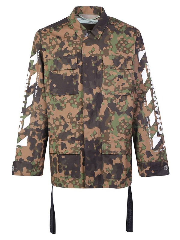 3a21863f2526e Off-White Camouflage-Print Cotton Field Jacket In Green | ModeSens