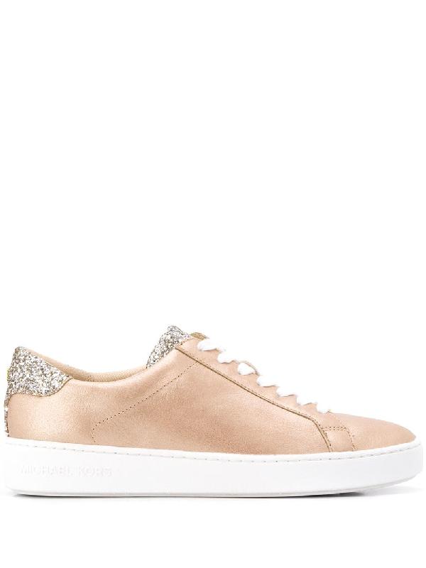 649106e76e3 Michael Michael Kors Irving Glitter Sneakers - Brown
