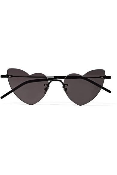 Saint Laurent Women's Lou Lou Rimless Heart Sunglasses, 50Mm In Black
