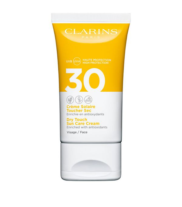Clarins Dry Touch Sun Care Cream Face Spf 30 In White