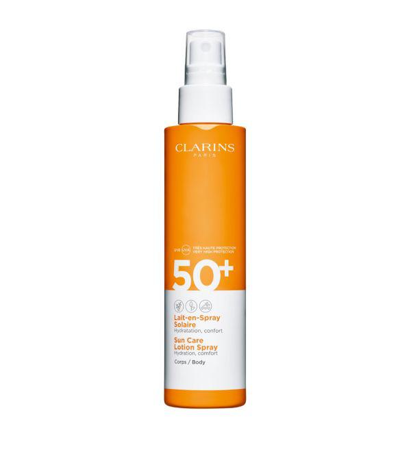 Clarins Sun Care Lotion Spray Body Spf 50+ In White