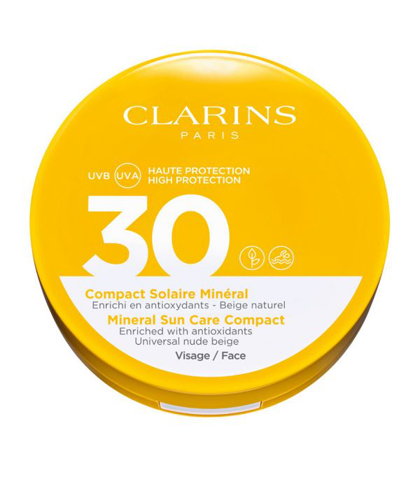 Clarins Mineral Sun Care Compact Face Spf 30 In White