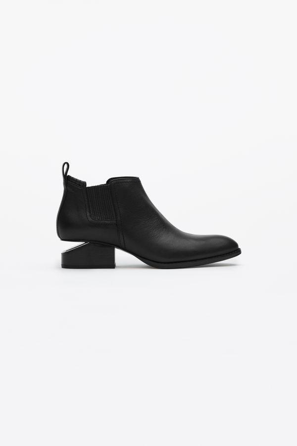 Alexander Wang 'kori' Cutout Heel Leather Chelsea Boots In 001 Black