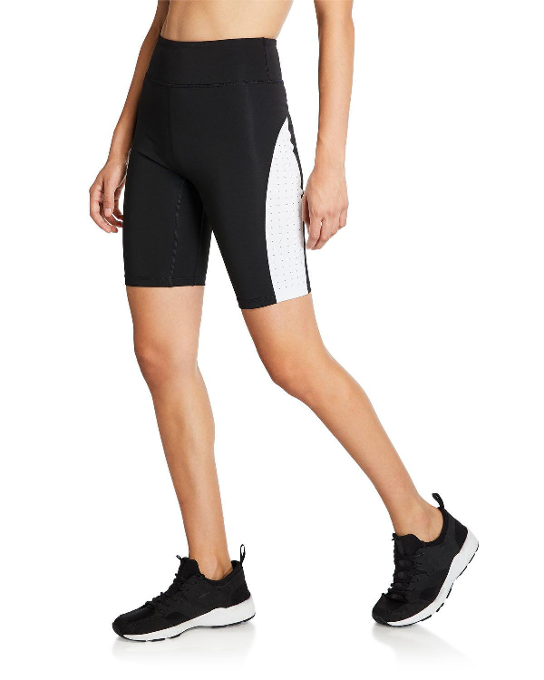 Aurum Soul High-Rise Biker Shorts In Black/White