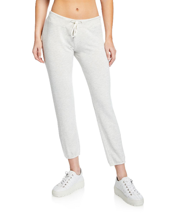 Monrow Super Soft Vintage Drawstring Sweatpants In Gray