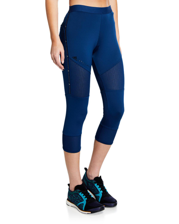f4fc00bd4ef Adidas By Stella Mccartney Parley For The Oceans Performance Essentials  Cropped Mesh-Paneled Climalite Leggings