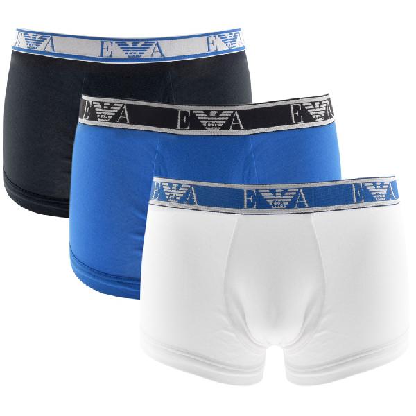 Armani Collezioni Emporio Armani Underwear 3 Pack Boxers In Blue