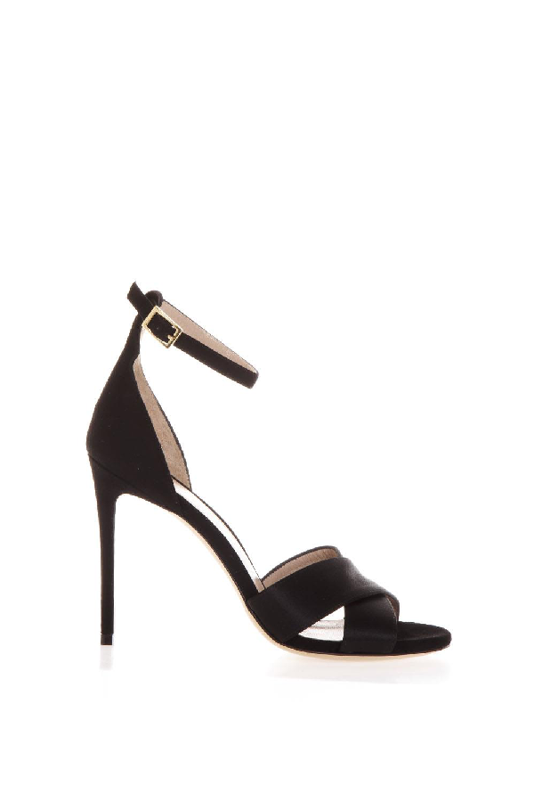 Aldo Castagna Powder Kira Sandals In Black Leather