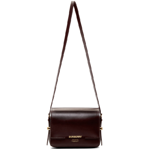 bf615c81bd Burberry Horseferry Small Leather Shoulder Bag In Oxblood   ModeSens