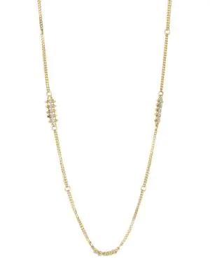 Amali 18k Yellow Gold & Silver Diamond Necklace