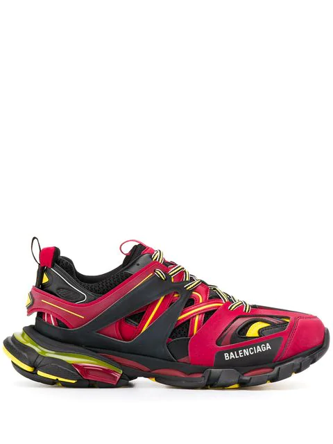 "Balenciaga Red, Black And Yellow "" Track"" Sneaker In 6575 Multicoloured"