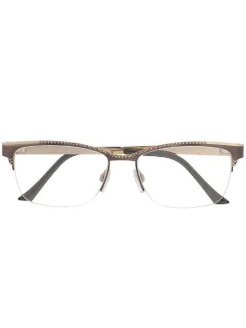Cazal Rectangular Frame Glasses In Grey