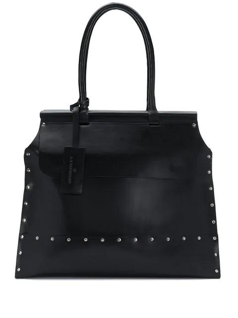 A.F.Vandevorst Large Studded Tote Bag In Black