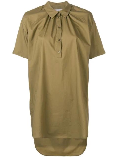 A.F.Vandevorst Oversized Half-Button Shirt - Green