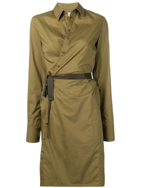 A.f.vandevorst Tie Waist Shirt Dress - Green