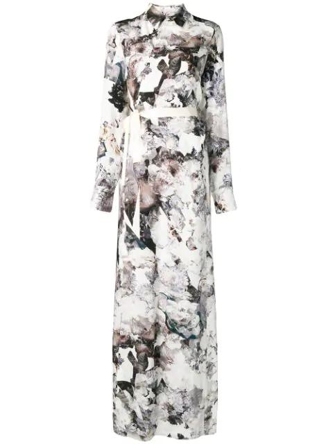 A.F.Vandevorst Floral Print Maxi Dress - White
