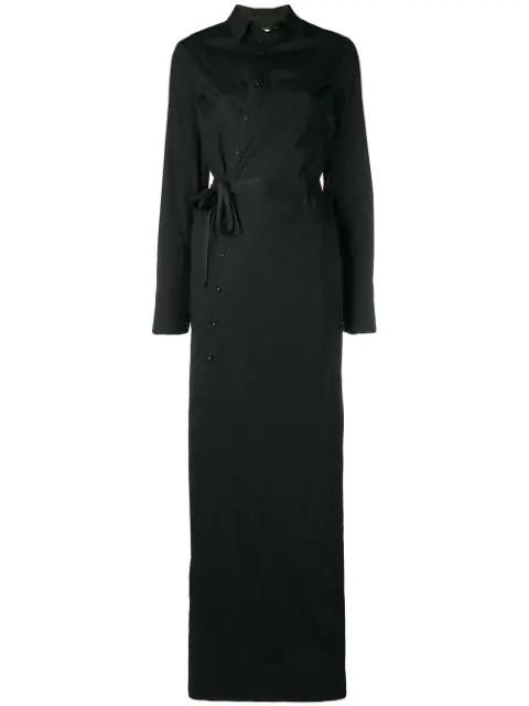 A.F.Vandevorst Shirt Maxi Dress - Black