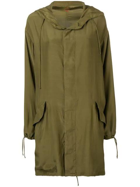 A.F.Vandevorst Oversized Hooded Coat In Green
