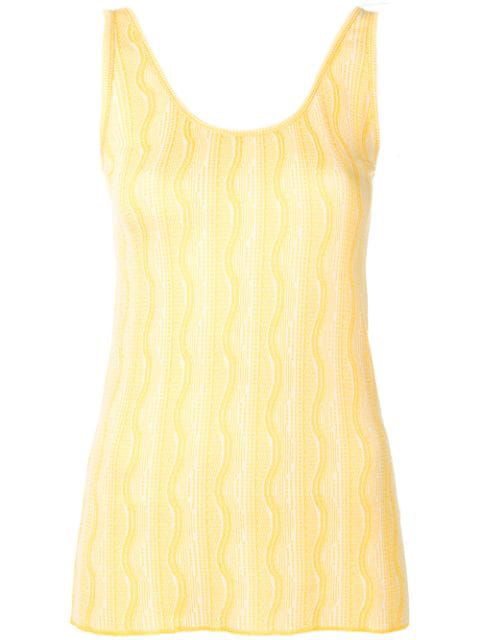 Etro Wave Pattern Vest Top In Yellow