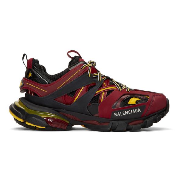 "Balenciaga Red, Black And Yellow "" Track"" Sneaker In 6575 Multicoloured"