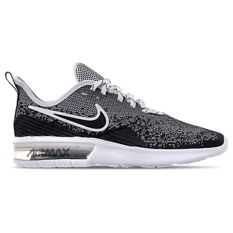 4fb2094e686 Nike Men s Air Max Sequent 4 Running Sneakers From Finish Line In Black  Black-
