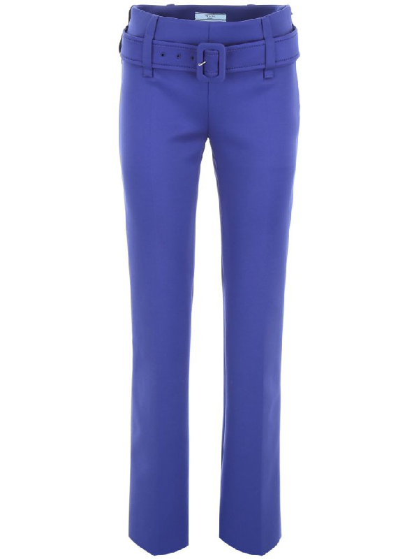 Prada Formal Trousers In Blue