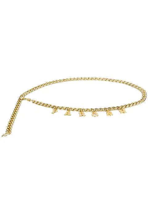 P.a.r.o.s.h. Logo Chain Necklace In Gold