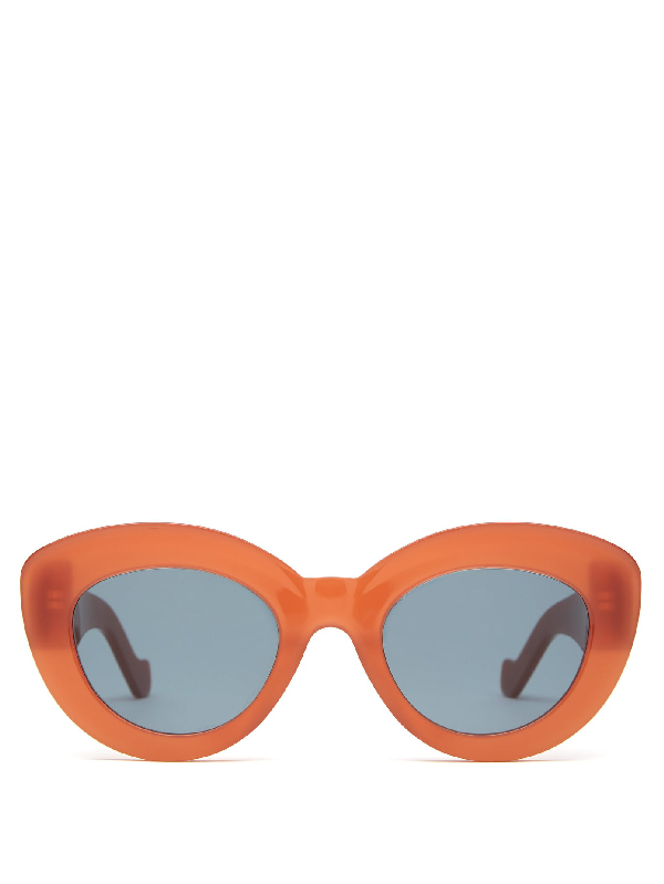 Loewe Butterfly Cat-eye Acetate Sunglasses In Red