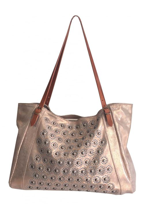 Nanni Metallic Shoulder Breeze Bag P52 In Pink