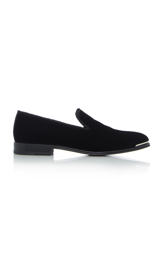 Alexander Mcqueen Metal Detail Loafers In Black