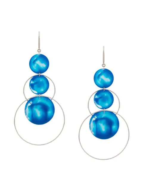 Isabel Marant Orecchini Earring In Blue ,silver