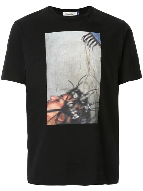 Undercover Graphic-print Cotton-jersey T-shirt In Black