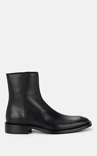 Balenciaga Men's Rim Patent Leather Chelsea Boots In Black