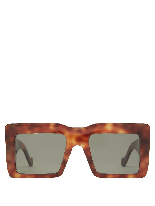 Loewe Square-frame Tortoiseshell Acetate Sunglasses In Black
