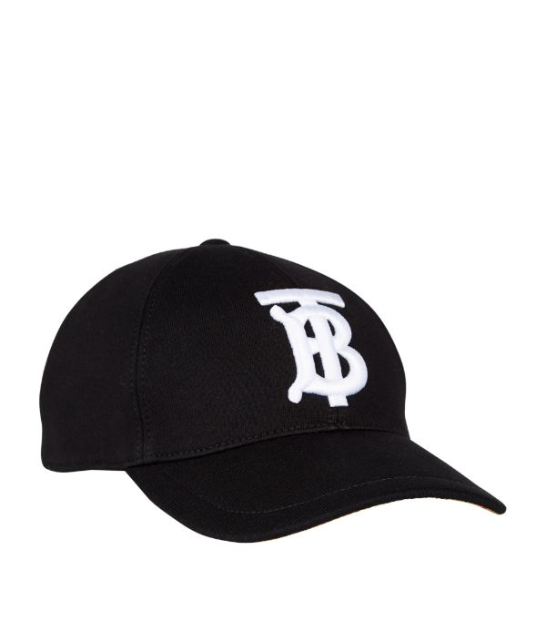 Burberry Baseball Hat In Black Cotton With Embroidered Logo Ss 2020