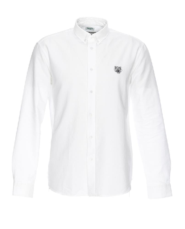 8d2a2c1dba Kenzo Tiger Patch Shirt In White. CETTIRE